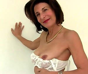Old but still very hot skinny mature mom