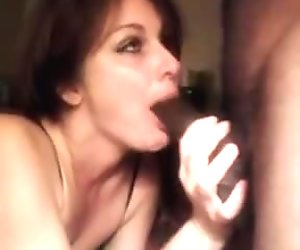 white wife gets throat fucked by daughter BF!