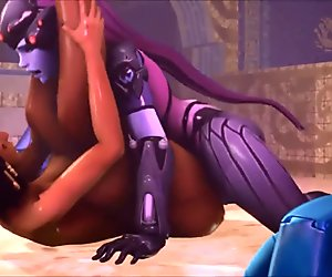 Futa Widowmaker fucks Pharah (3D Animated)