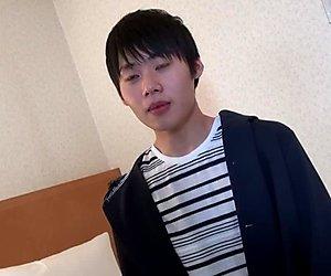 Japanese gay sprays jizz