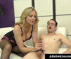 Award Winning Milf Julia Ann Foot Fucks A Hard Slave Cock!