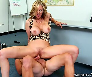 Naughty America - Find Your Fantasy American Julia Ann takes her student