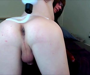Teen shemale fucks her ass hard