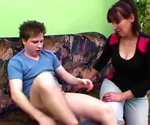Naughty Stepson Fucks His Hairy Pussied Stepmom