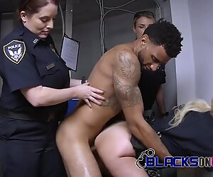 Skinny D bangs slutty cops with no mercy once they apprehend him