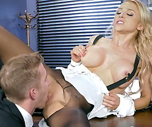 Alix Lynx drilled hard in her pussy
