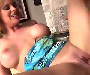Busty MILF blonde cougar gives amazing head