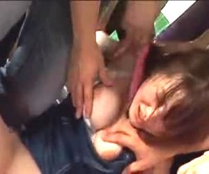 japanese girls gangbang in bus