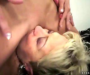 Teens enjoying sex with grannies