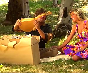 Kendall Brooks gets outdoor fucked after picnic