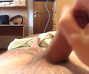 Nice handjob with cumshot