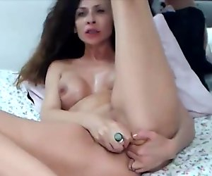 Classy curly EVOLET with sexy accent will be your teacher of sex