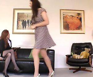 British milfs in lingerie lesbian sex on floor