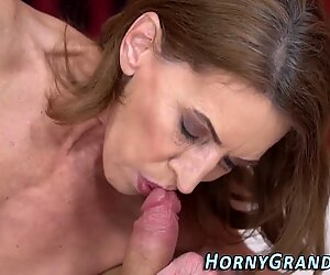 Lusty grandma tongued