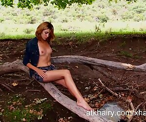 Amateur nudist Mariana strips and masturbates outdoors