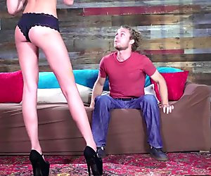 Hot brunette slut Ariana Marie pussy pounded very hard