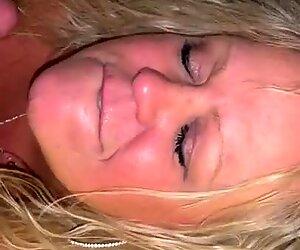 BBW Blonde Milf Big Freckles Tits Blowjob Face Fuck
