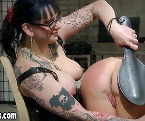Chubby lesbian goth mistress punished big boobed slave