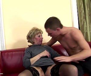 Pörröinen kypsä-äiti saa kovaa anaali-seksiä pojalta