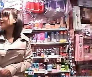 Mai gets vibrators at sex shop