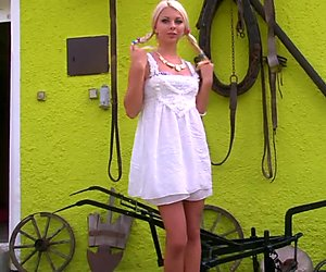 Blonde Farm Girl Makes You Want To Milk It - Julia Reaves