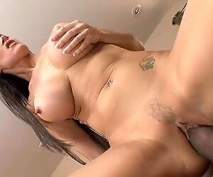 Busty whore Eva Karera gets a massive throbbing black cock thrusted deep in her cunt