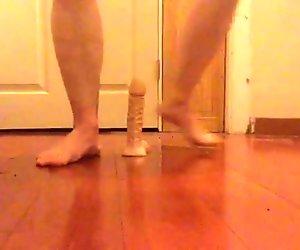 Long thin dildo rough anal MALE SQUIRT