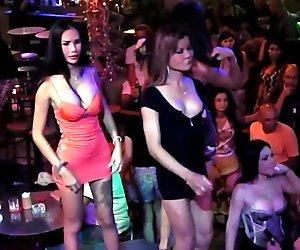 Ladyboys Flashing Tits in Public