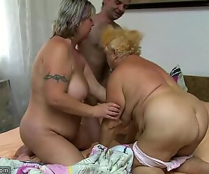 Old granny, Chubby granny, nice granny with hot guy