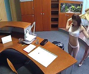 Lesbo nurse fucks gal in hospital