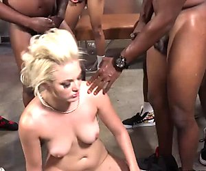 Jenna Ivory Gets Gang Banged By Hung Black Guys