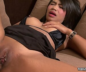Calm Thai slut fucks a John who can barely function