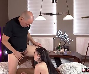 Daddy sharing me with crony for second creampie and old blonde granny Vacation in - Kittina Ivory