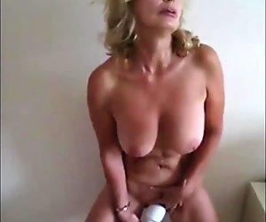 Filmed from her husband
