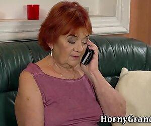 Old redheaded granny cum