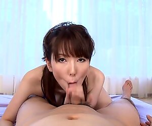 Japanese with sexy melons masturbates with toys