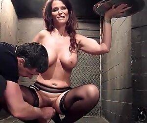 Big tits mature slave gets bdsm training