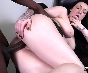 Fantastic interracial doggystyle fuck
