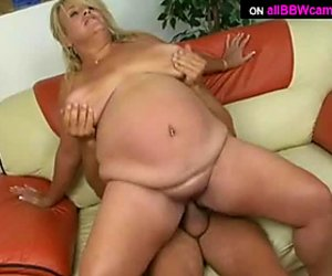 Whale sized BBW woman bounces her fat ass on top of a hard dick