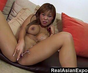 RealAsianExposed  Busty Asian Vs a ample ebony Cock
