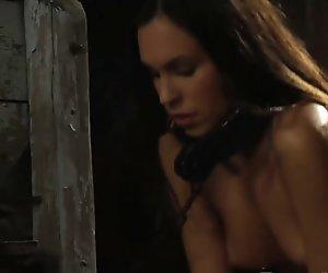 Hardworking slaves under lesbian mistress watch