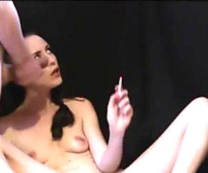 Curvy Hot Mom Sylvia Chrystall's Smooth Facefuck and EVE 120 Smoking Fetish