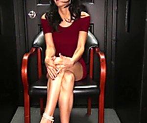 Glory hole Secrets Latina swallows strangers hot cum