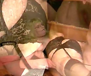 Fat old German blonde fucked and cummed on - Inferno Productions
