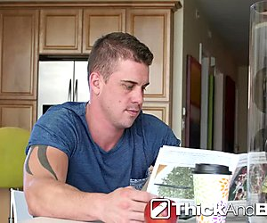 ThickAndBig - Darin Silvers pounds Kory Houston in the booty