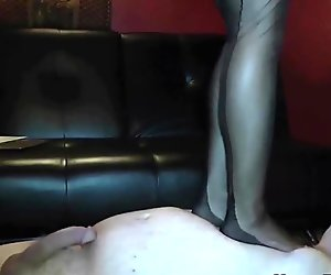 Mistress Tangent femdom foot and face sitting domination
