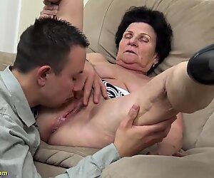 72-vuotias villamainen mummo rivo tönäisi