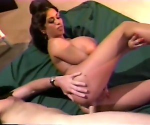 Brunette with monster tits gets boned - Gentlemens Video