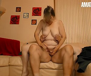 AmateurEuro - Granny Rides Hard Cock On Cam & She Loves It