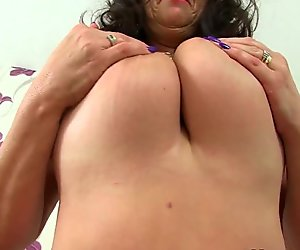 British mature secretaries Lulu Lush and Zadi stripping off